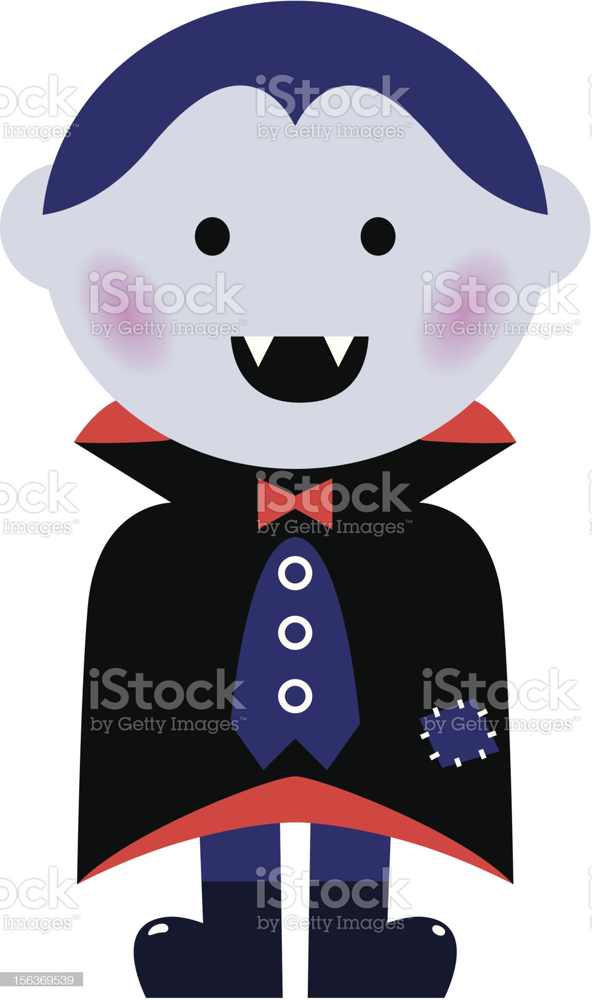 Cute Vampire boy isolated on white royalty-free stock vector art
