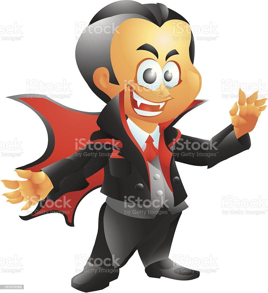 Cute vampire royalty-free stock vector art