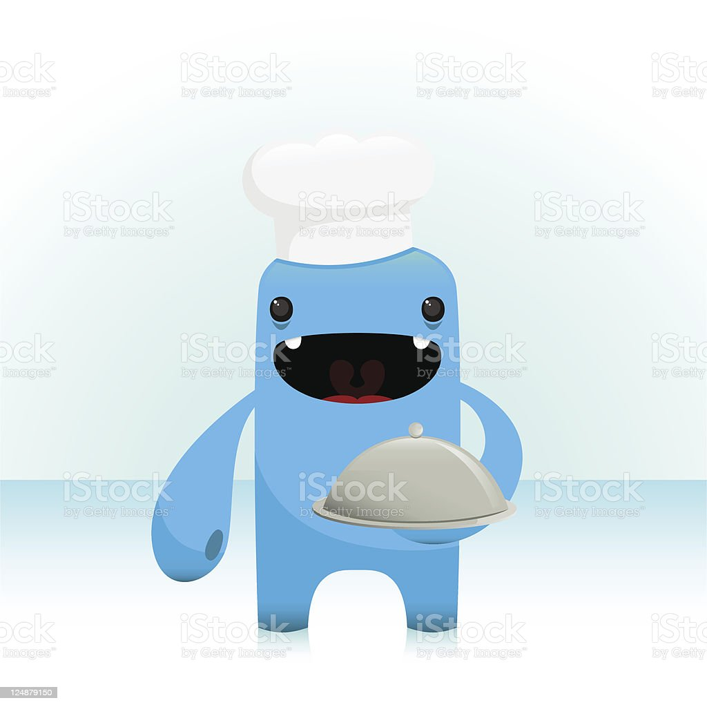 Cute Vector Cook Chef Character vector art illustration