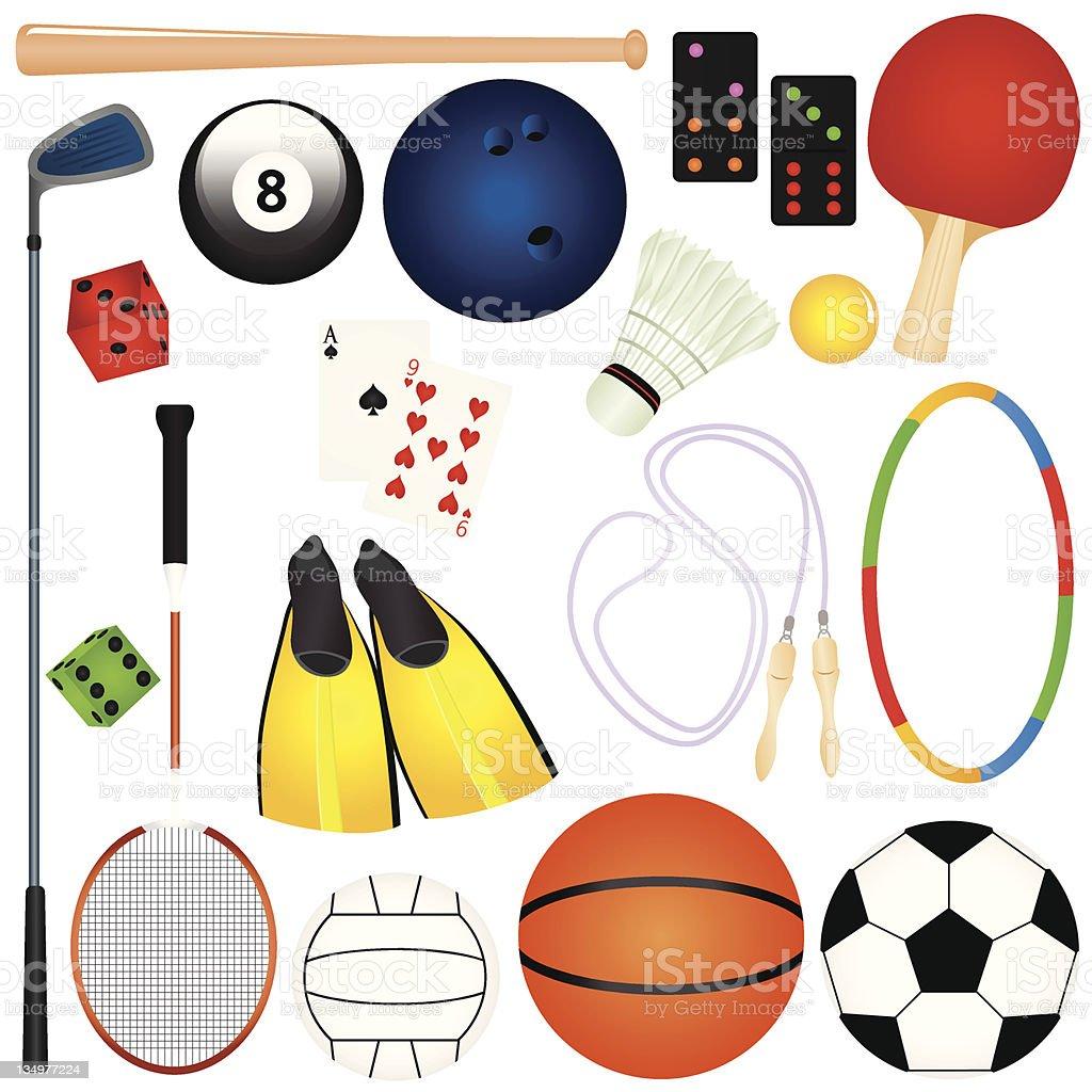 Cute vector Icons :  Design Elements : Sports/ Leisure/ Games/ Gambling vector art illustration