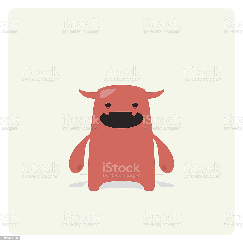 Cute Vector Tiny Devil Character royalty-free stock vector art