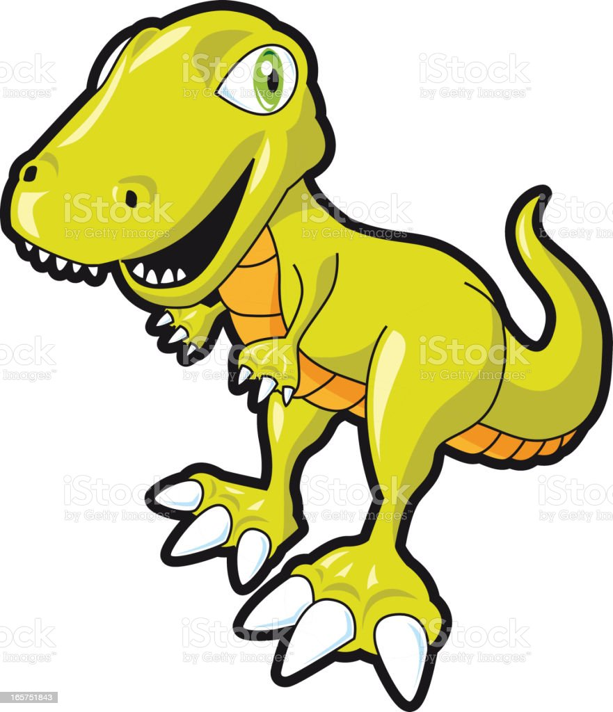Cute Vector Tiranosaurius Rex vector art illustration