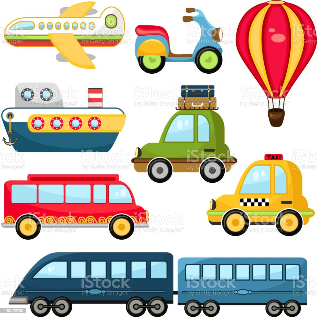 Cute Vector Transportation vector art illustration