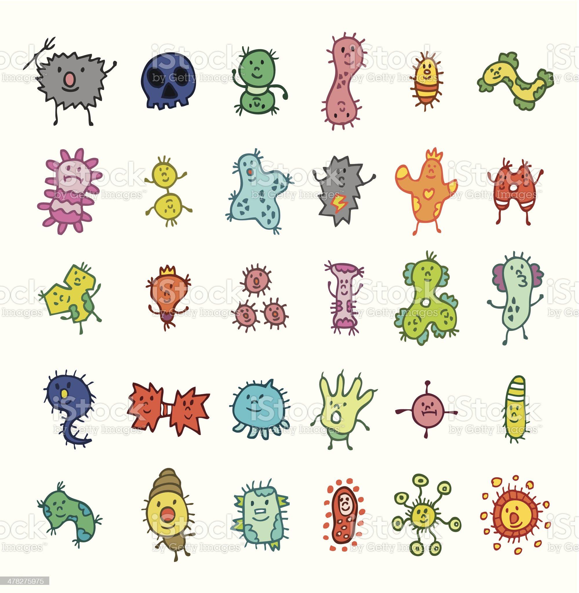 cute virus element royalty-free stock vector art