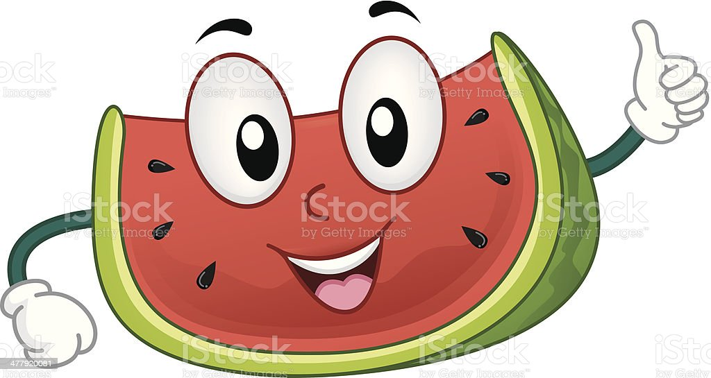 Cute Watermelon royalty-free stock vector art