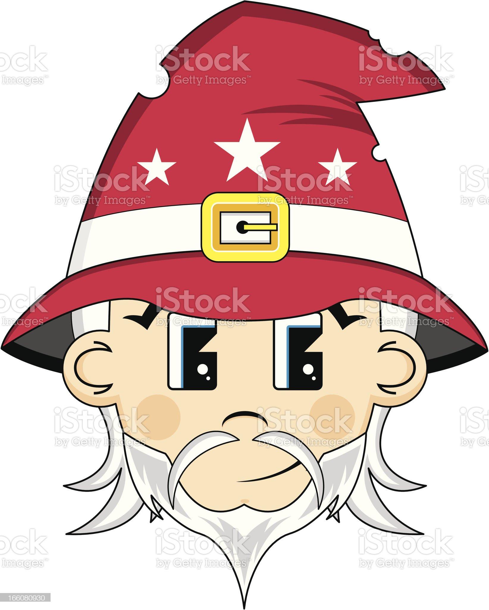 Cute Wizard Head royalty-free stock vector art