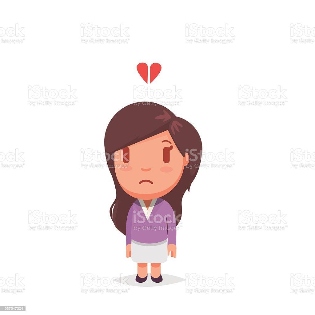 Cute woman vector art illustration