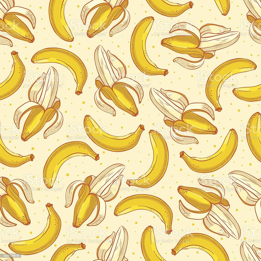 Cute yellow bananas vector art illustration