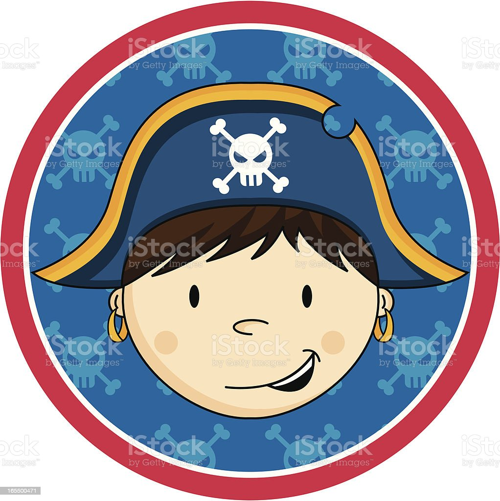 Cute Young Pirate Captain royalty-free stock vector art