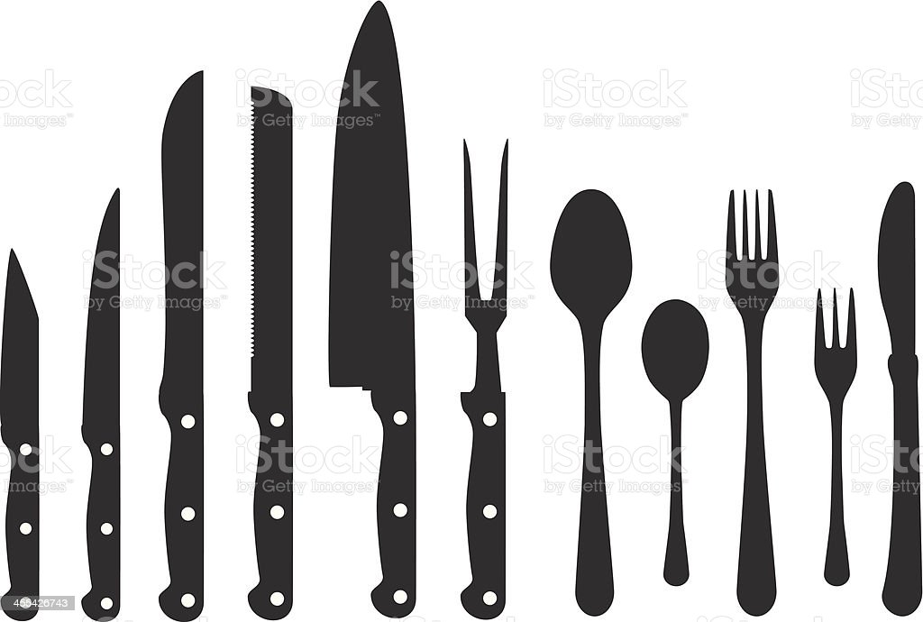 Cutlery And Knifes royalty-free stock vector art