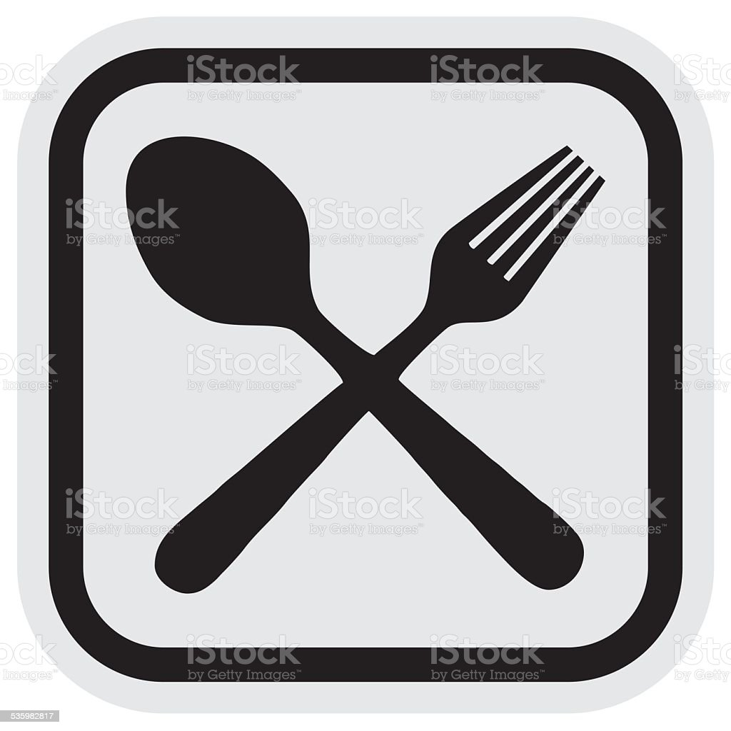 Cutlery, frame vector art illustration