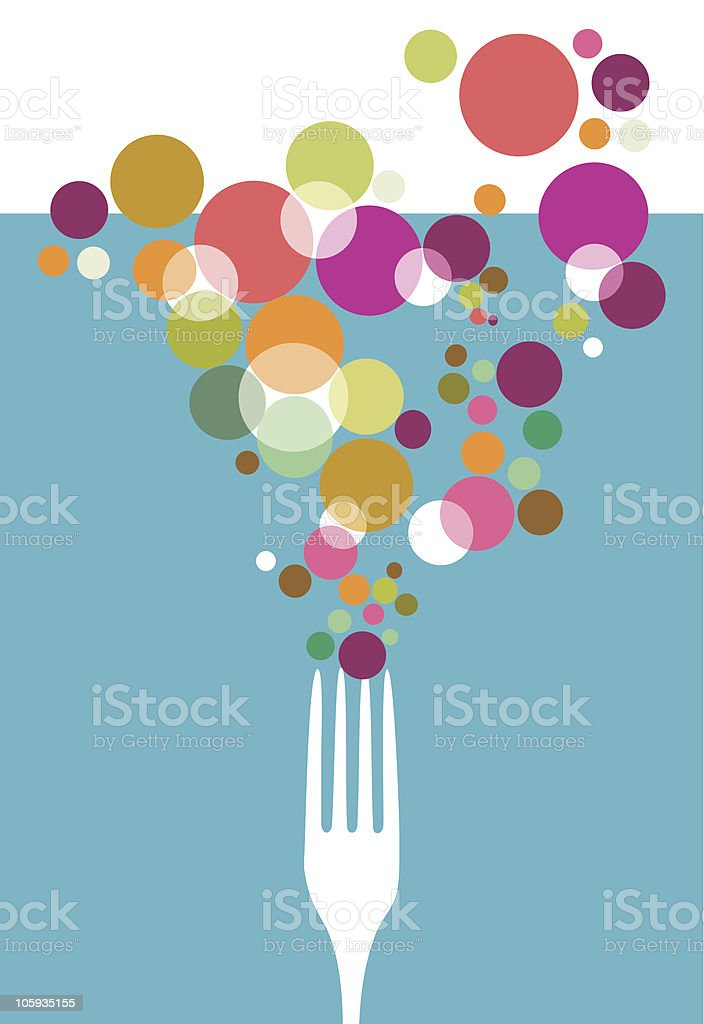 Cutlery restaurant design. royalty-free stock vector art