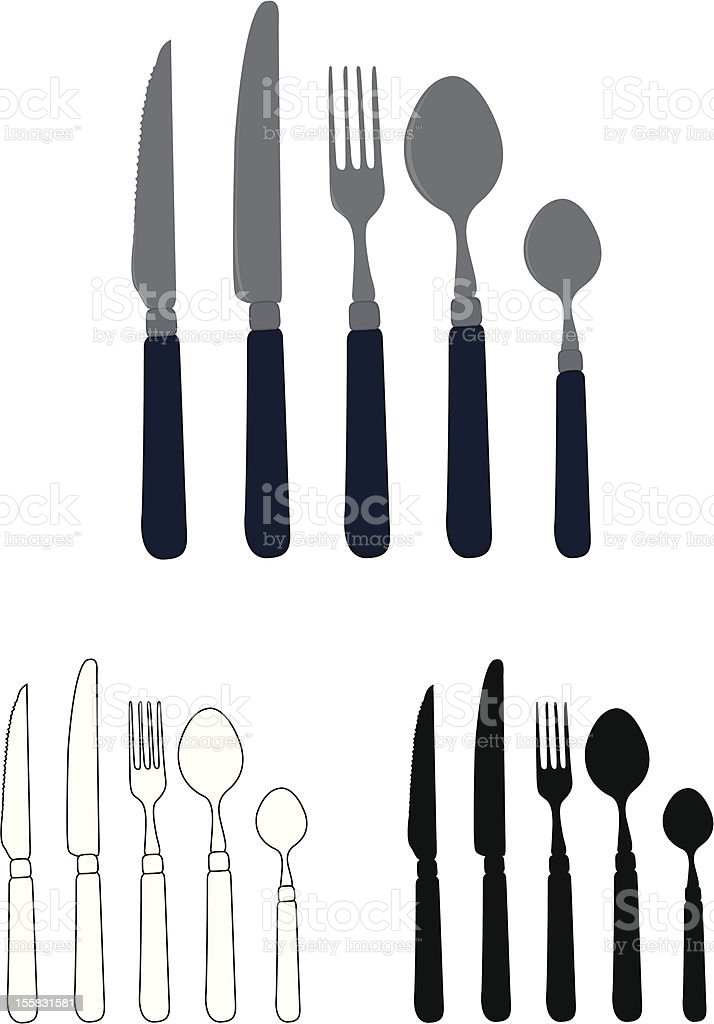 cutlery set royalty-free stock vector art