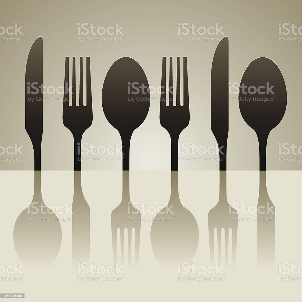 cutlery shadow royalty-free stock vector art