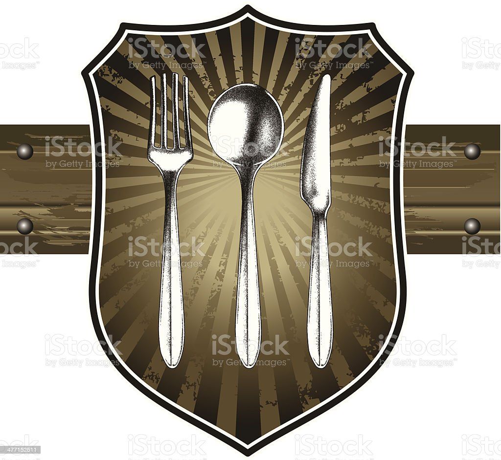 cutlery shield royalty-free stock vector art