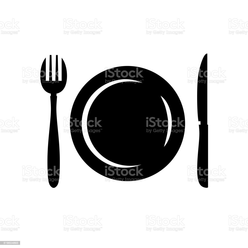 Cutlery symbol vector art illustration
