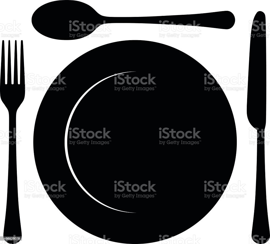 Cutlery vector art illustration
