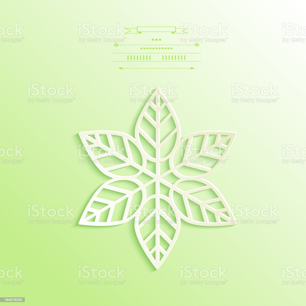 Cutout paper flower royalty-free stock vector art