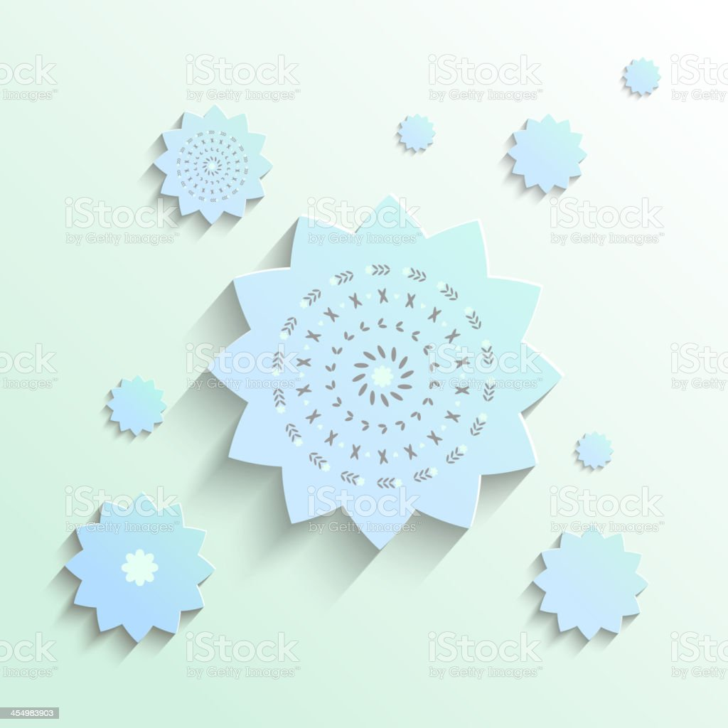 Cutout paper flowers in vector royalty-free stock vector art
