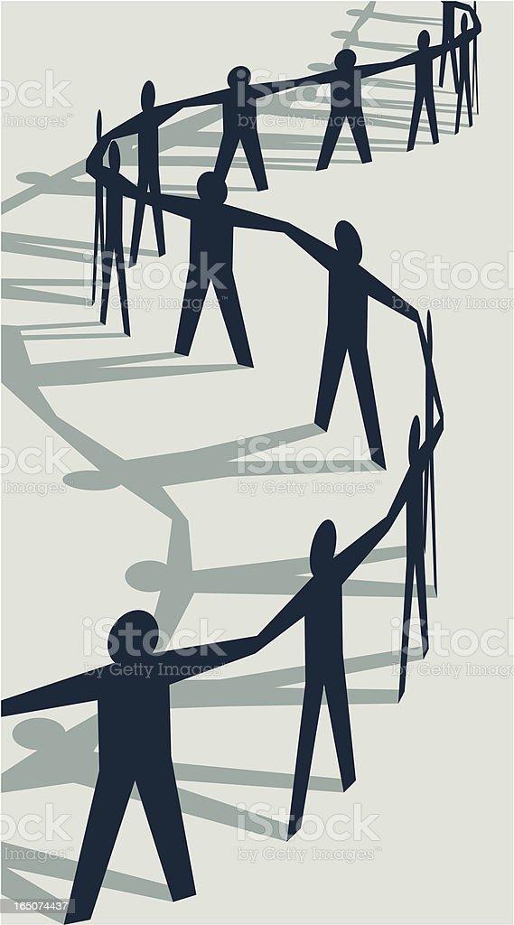 Cutout People vector art illustration