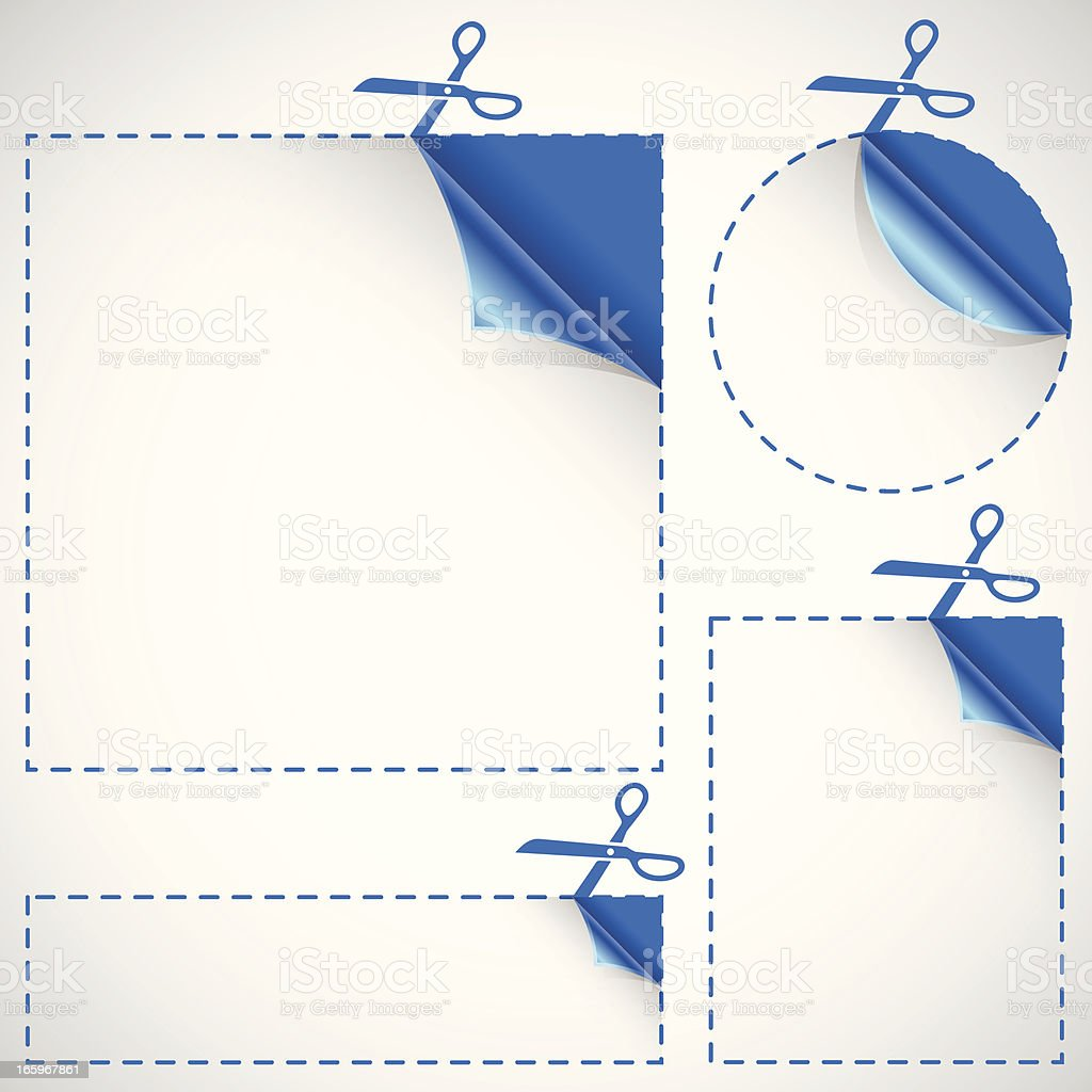 Cutting and Clipping Borders royalty-free stock vector art