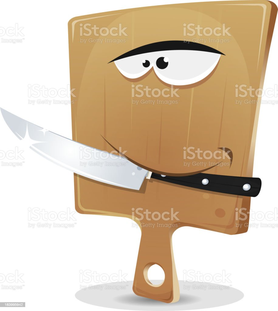 Cutting Board And Knife royalty-free stock vector art