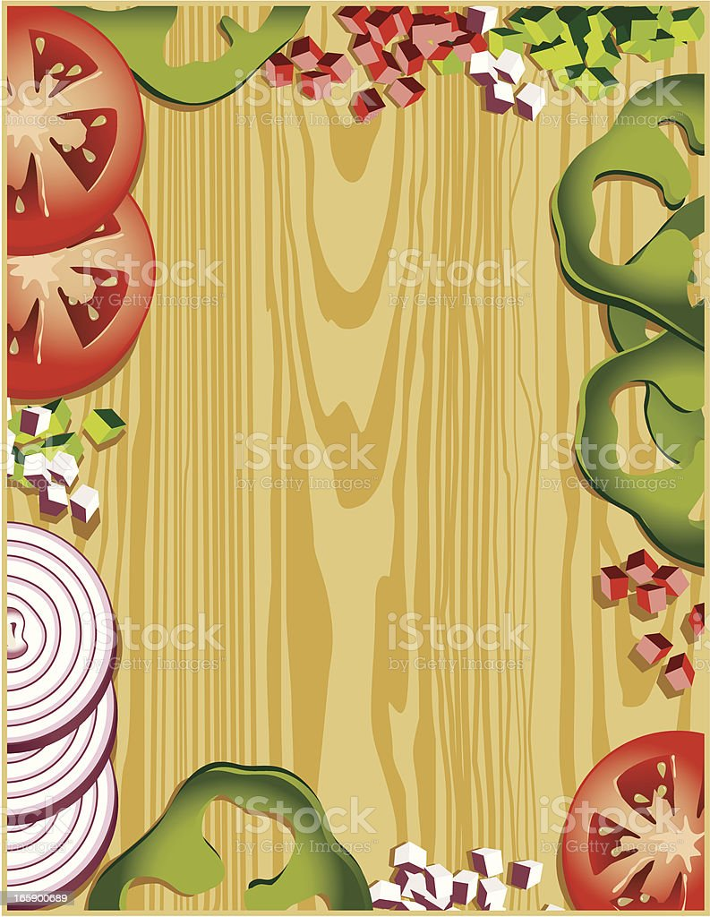 Cutting Board Border vector art illustration