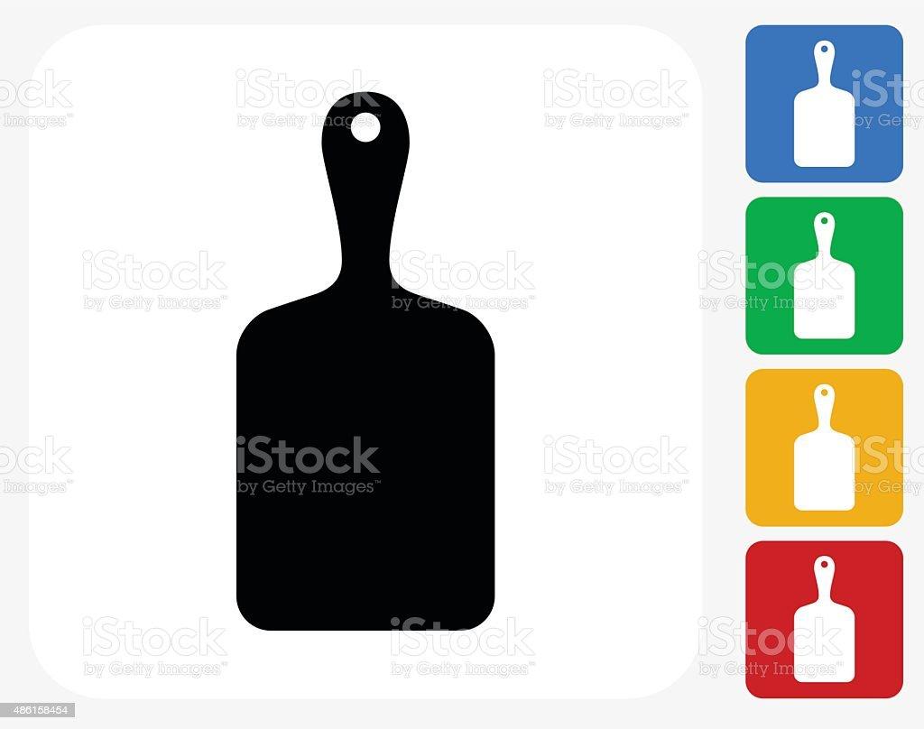 Cutting Board Icon Flat Graphic Design vector art illustration