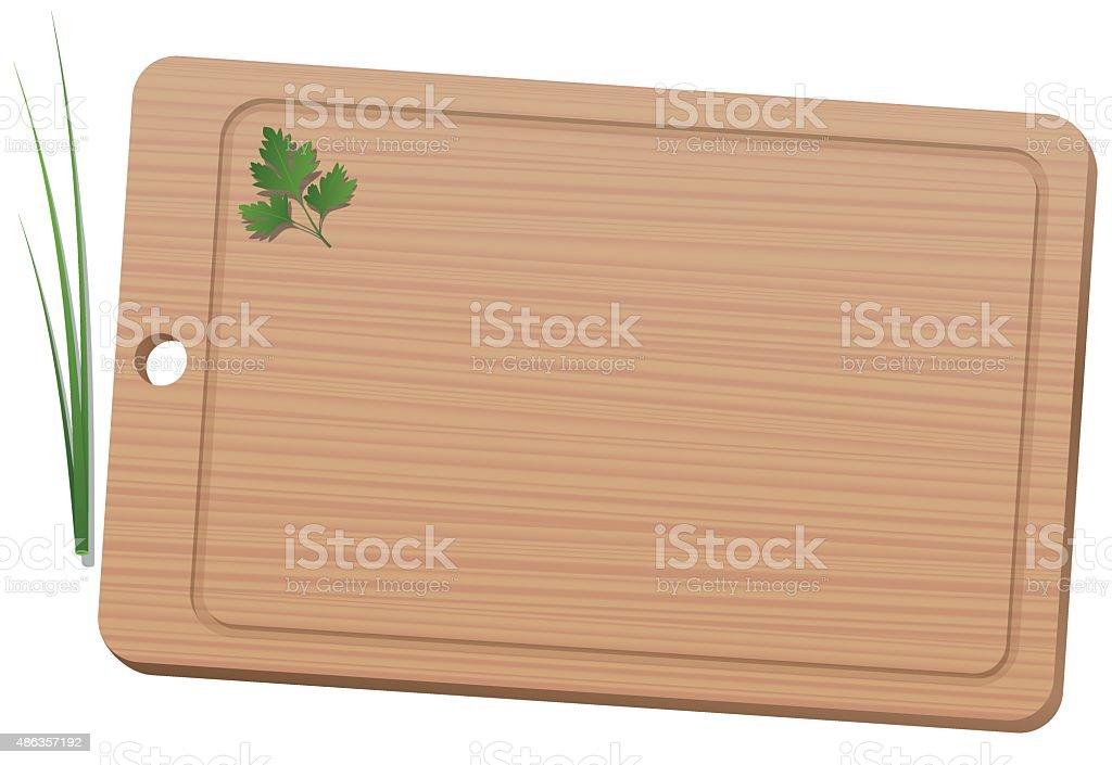 Cutting Board Wooden Texture vector art illustration