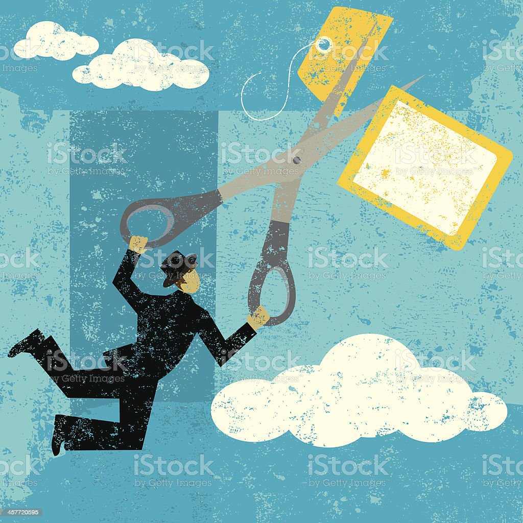Cutting high prices royalty-free stock vector art