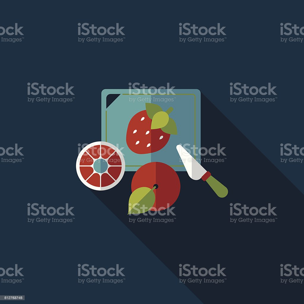 cutting toy flat icon with long shadow,eps10 vector art illustration