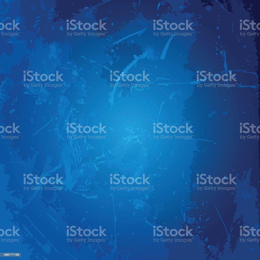Cyan dark blue grungy metal background vector art illustration