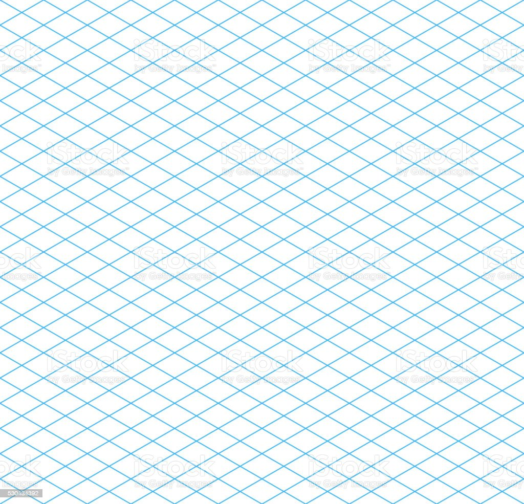 Cyan isometric grid seamless pattern vector art illustration