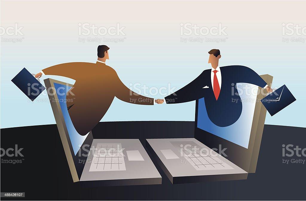 cyber business vector art illustration