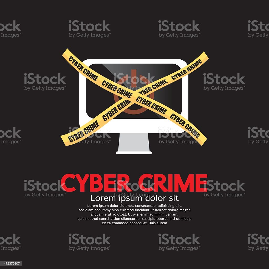 Cyber Crime Concept. royalty-free stock vector art
