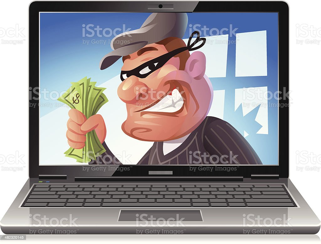 Cyber Crime royalty-free stock vector art