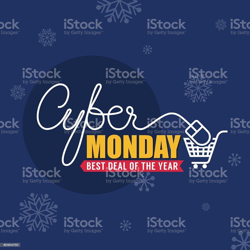 Cyber Monday Sale Background for Good Deal Promotion vector art illustration