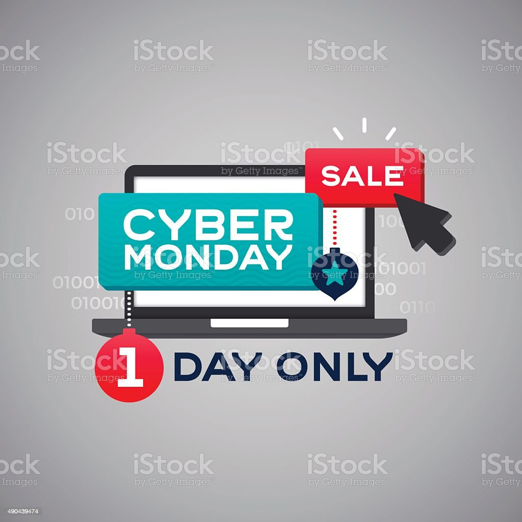 Cyber Monday Sale vector art illustration