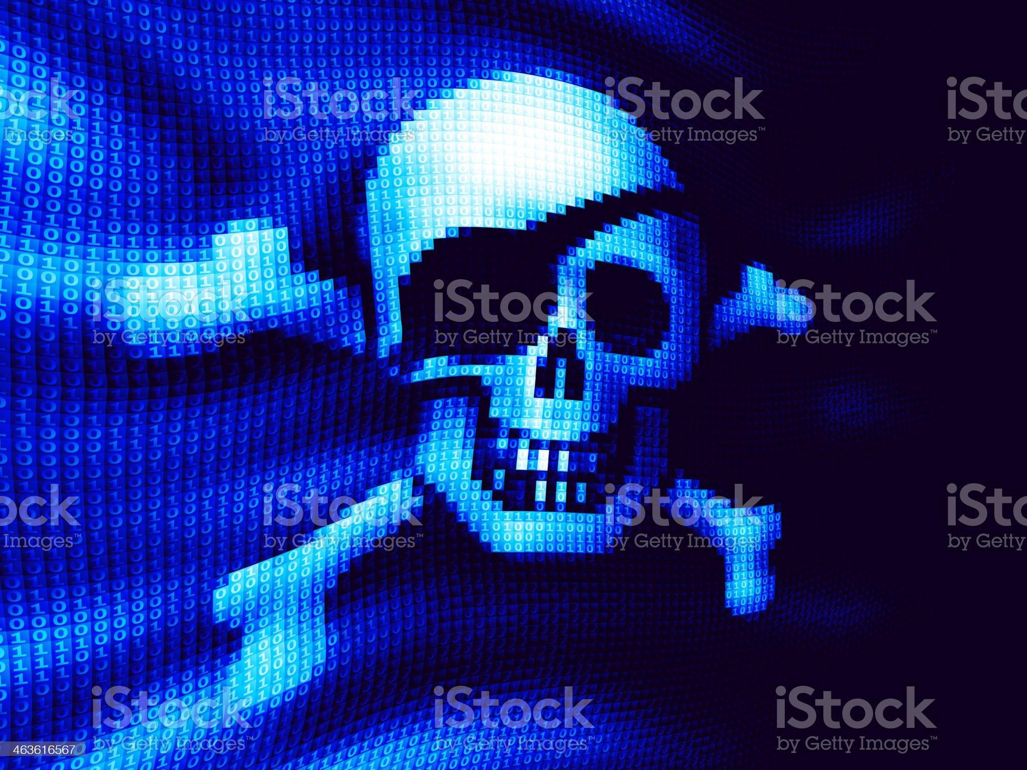 Cyber piracy royalty-free stock vector art