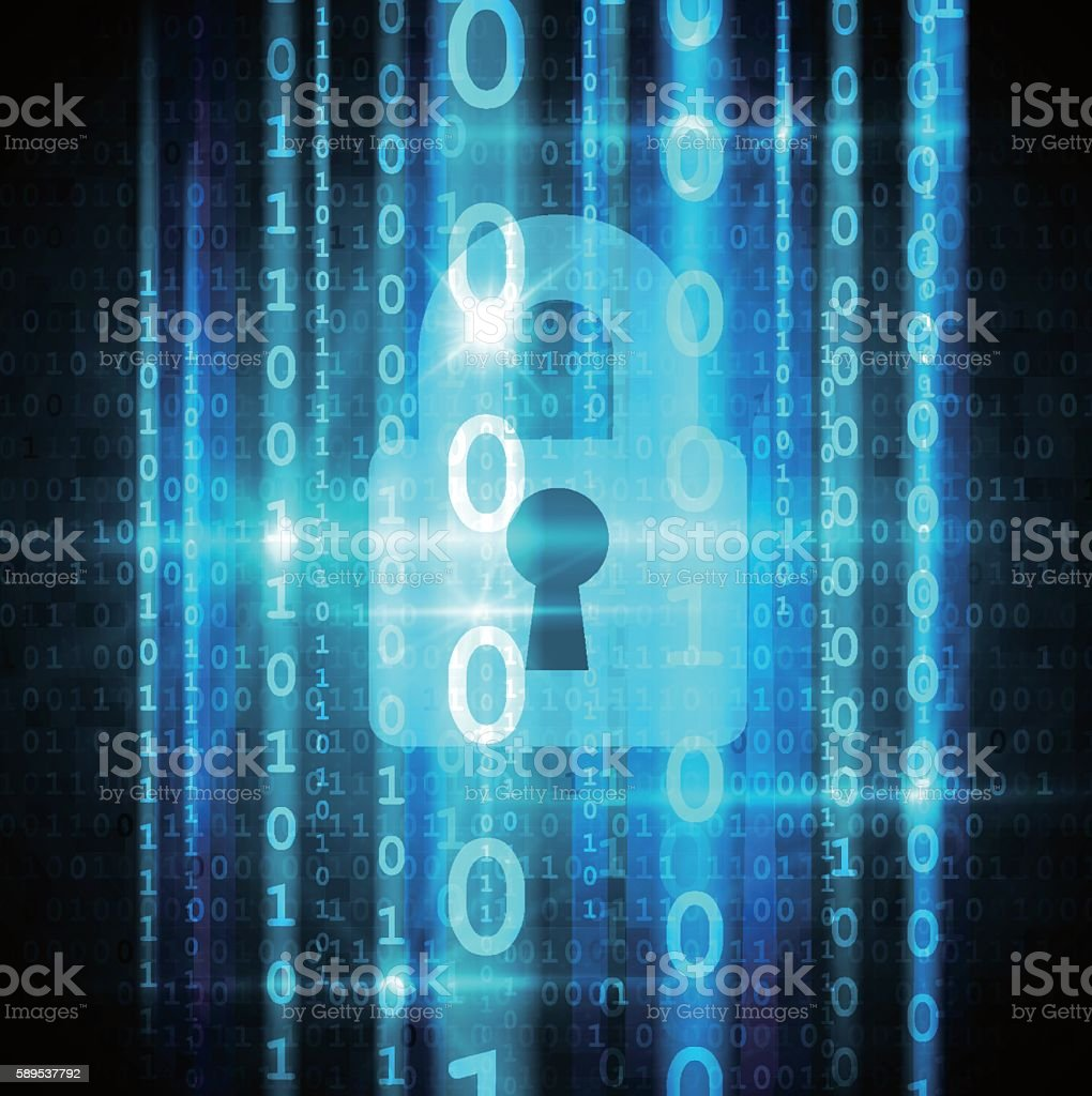 Cyber security concept vector art illustration