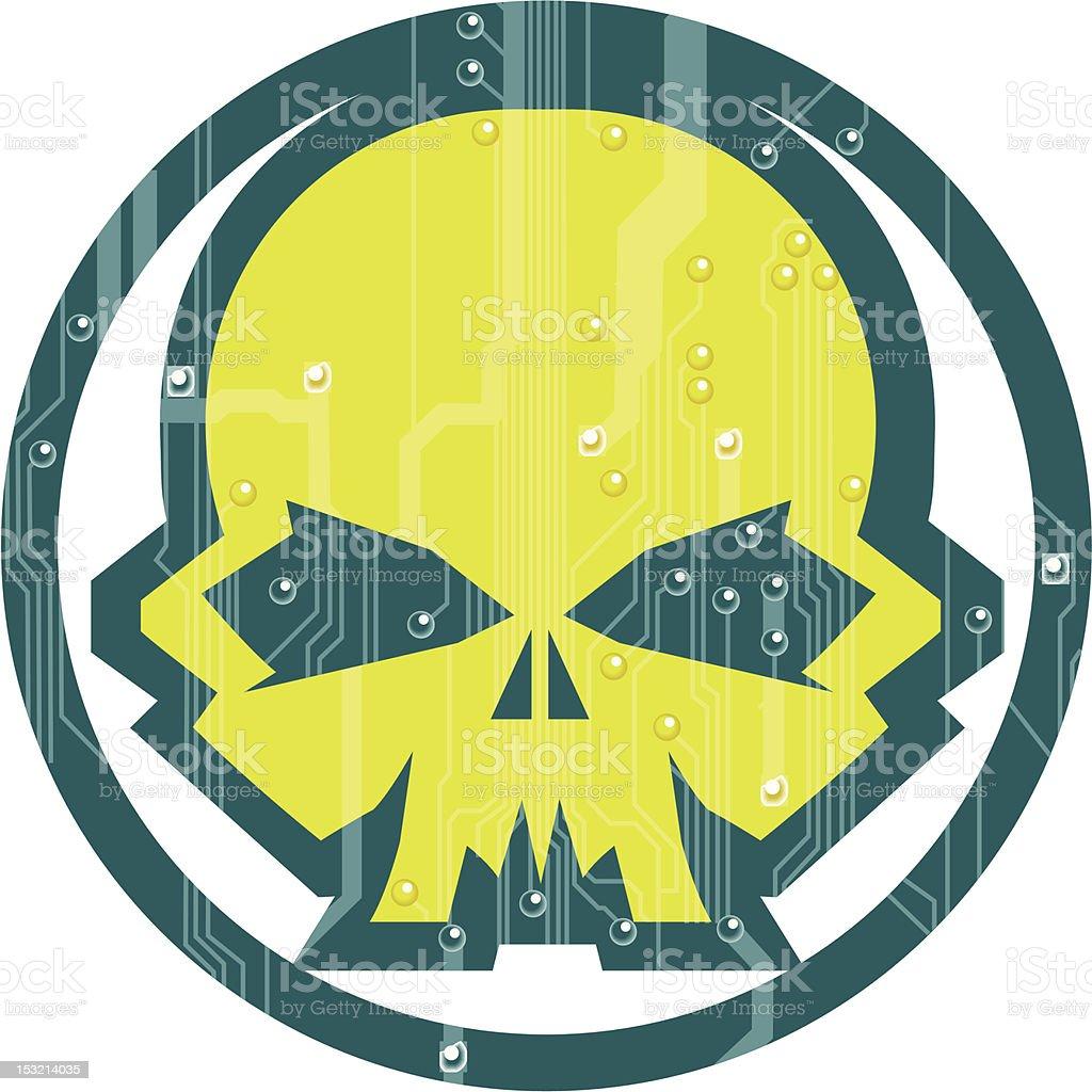 Cyber Skull royalty-free stock vector art