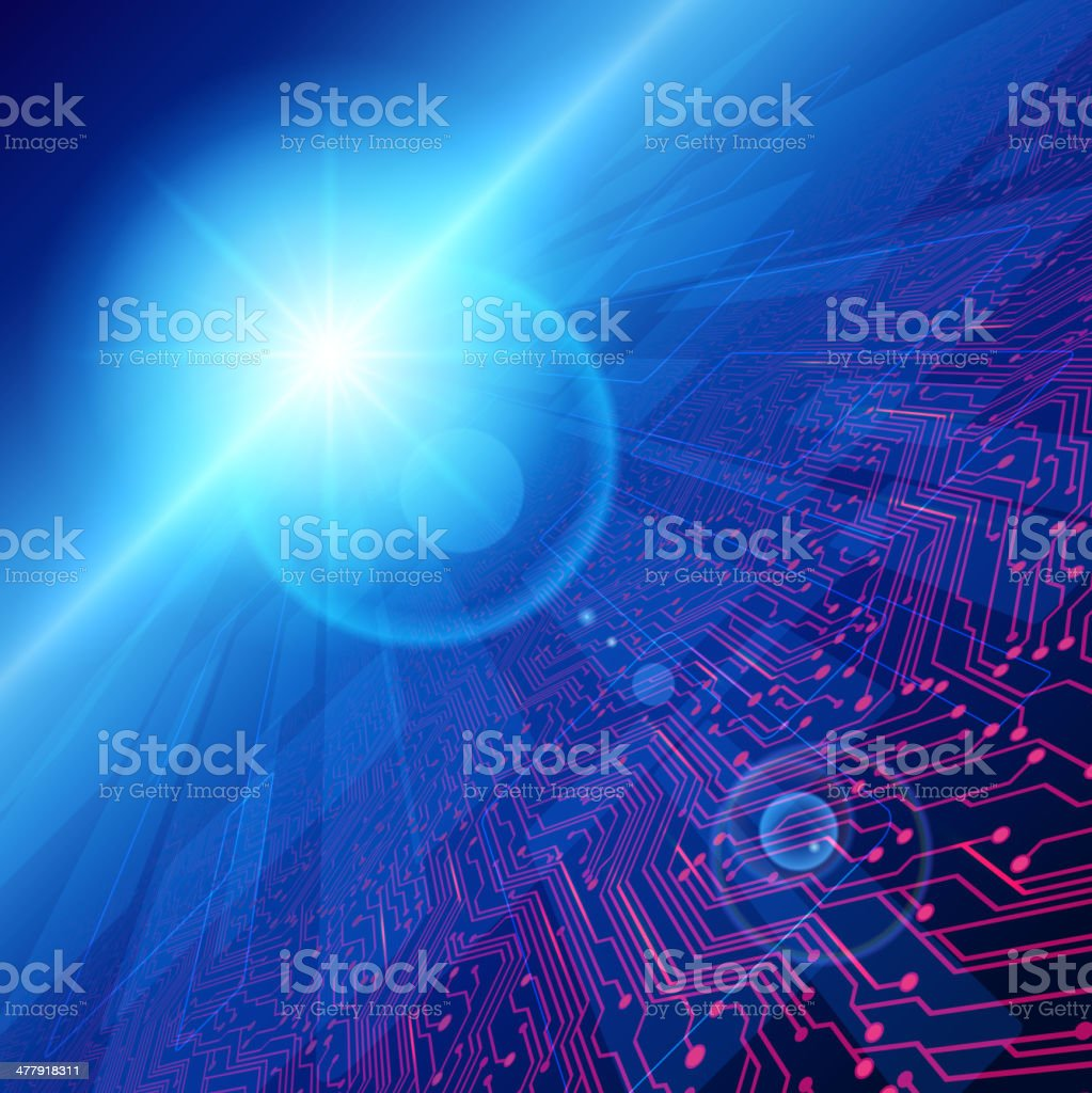 Cyber space vector art illustration
