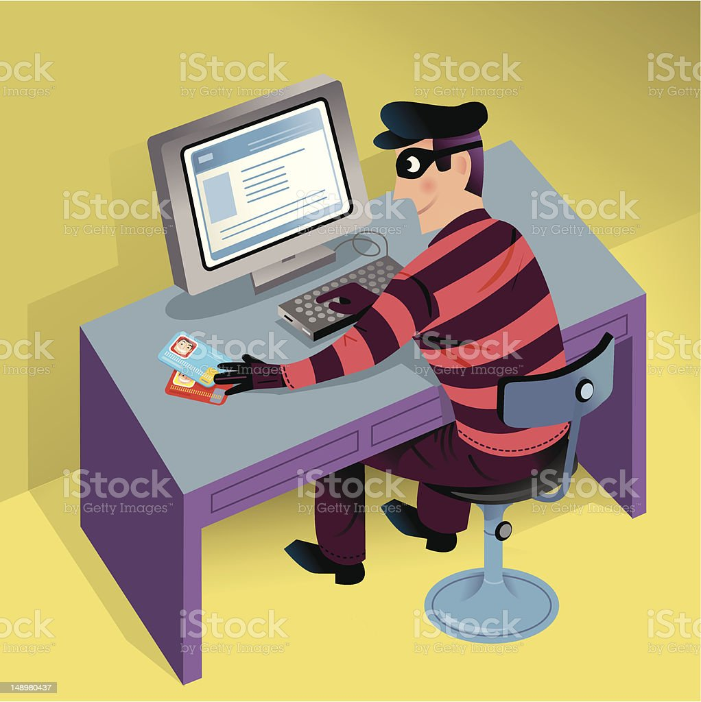 Cyber Theft royalty-free stock vector art