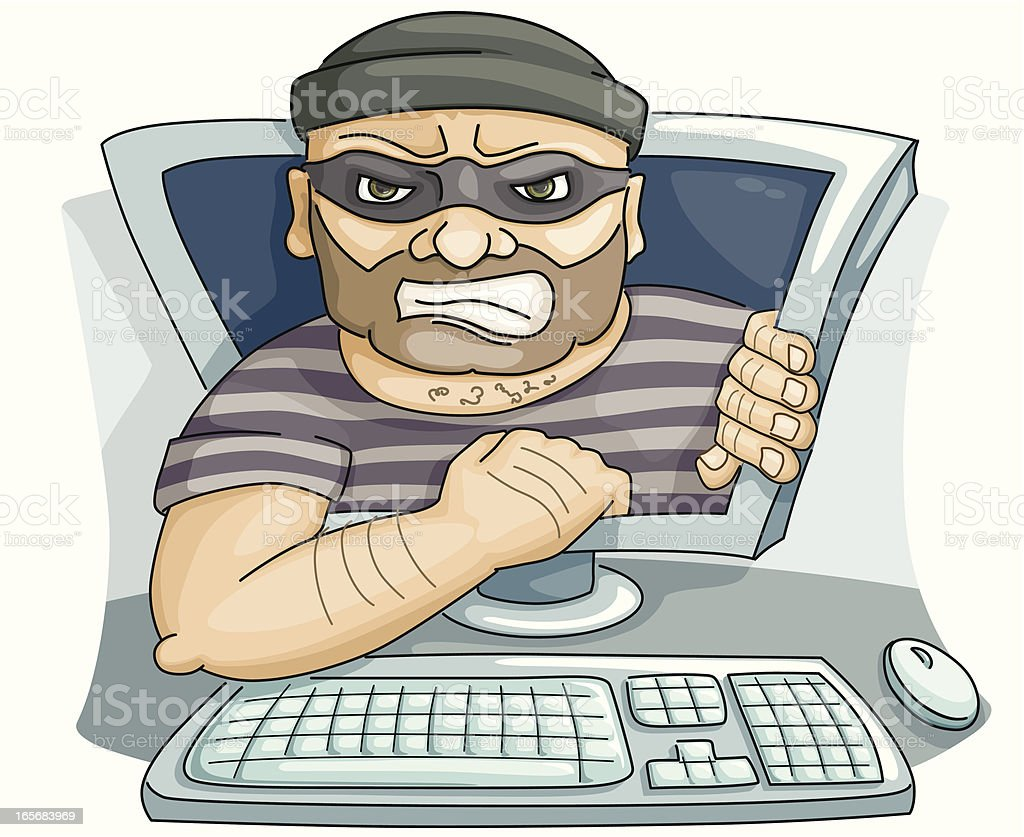 cyber - thief royalty-free stock vector art