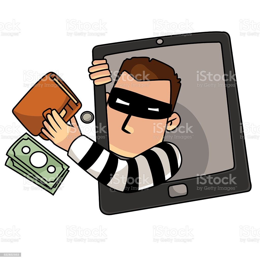 Cyber thief royalty-free stock vector art