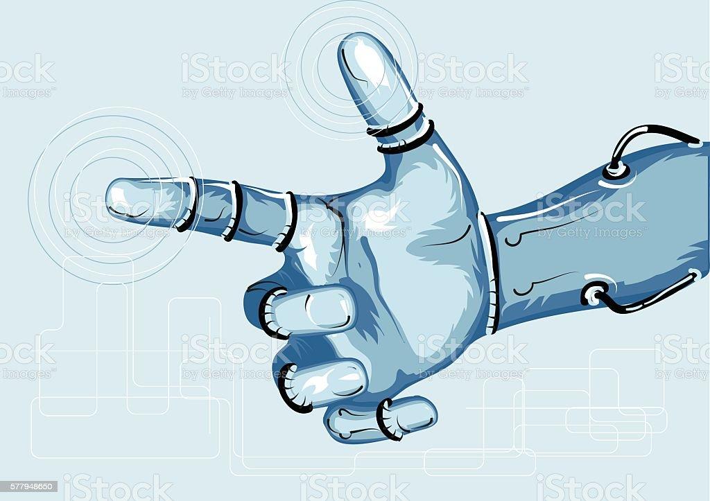 cyborg vector art illustration