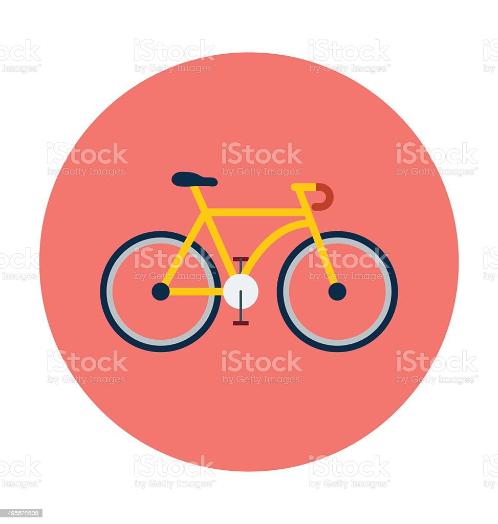 Cycle Colored Vector Icon vector art illustration