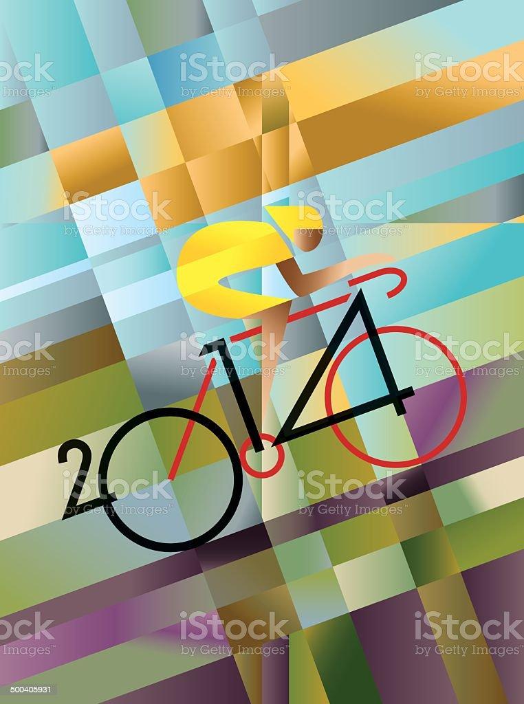 Cycle Race 2014 vector art illustration