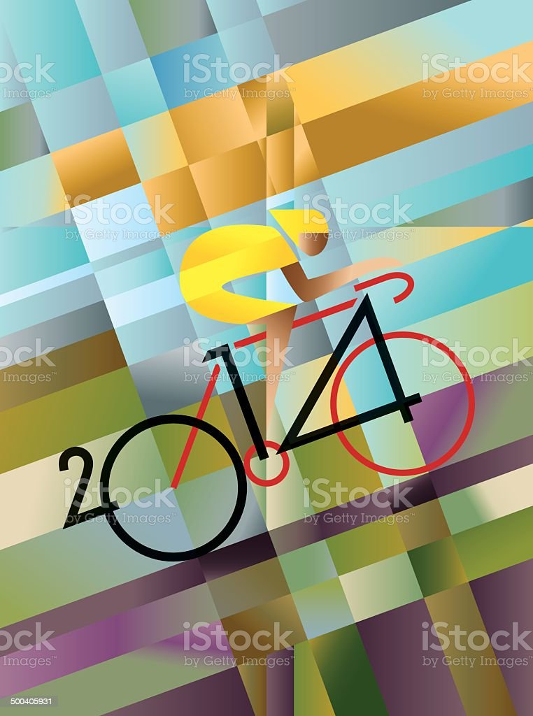 Cycle Race 2014 vector art illustration