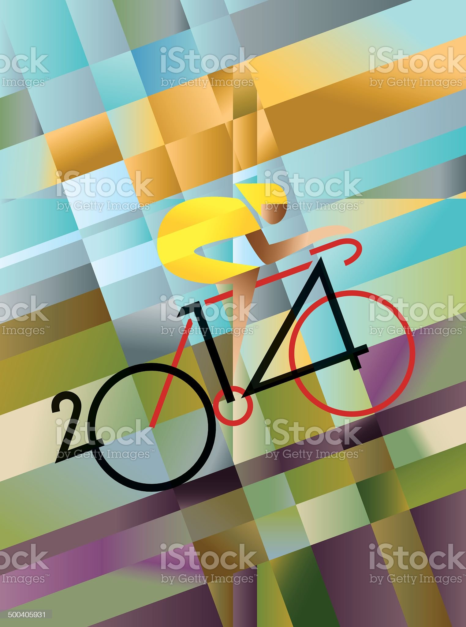 Cycle Race 2014 royalty-free stock vector art